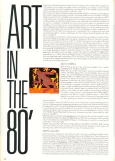 Zoom Magazine, written by Christine Larrain-Lombard. 1983